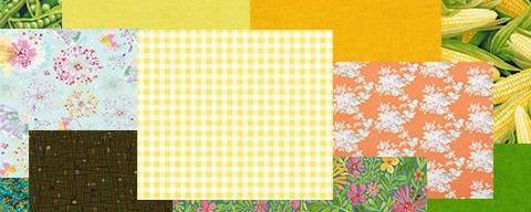 Telas Verdes/Amarillos/Naranjas