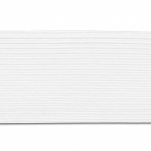 Goma plana blanca 20 mm