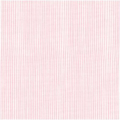 Tela patchwork de fondo blanco con rayas rosas