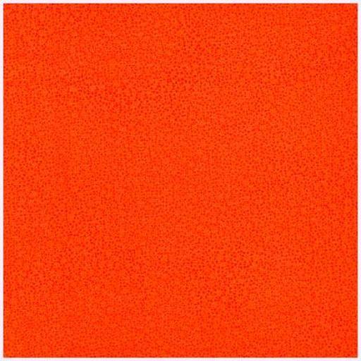 Tela patchwork de fondo naranja con puntitos oscuros