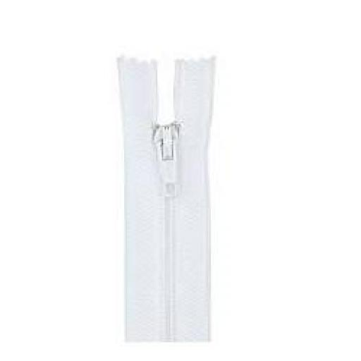 Cremallera blanca nylon nº3