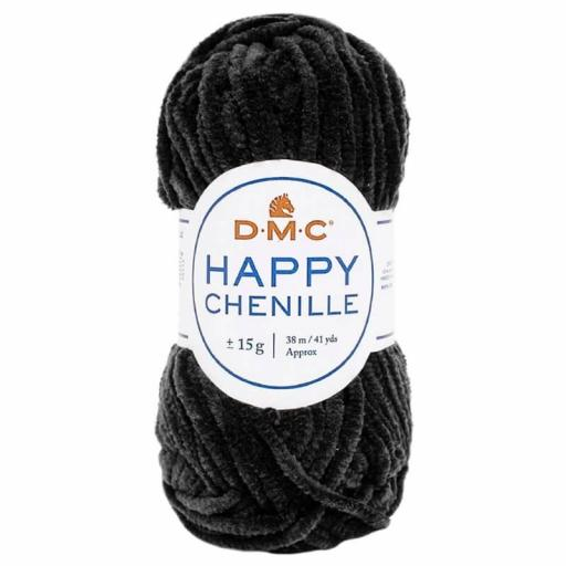 Lana DMC Happy Chenille 22 Negro