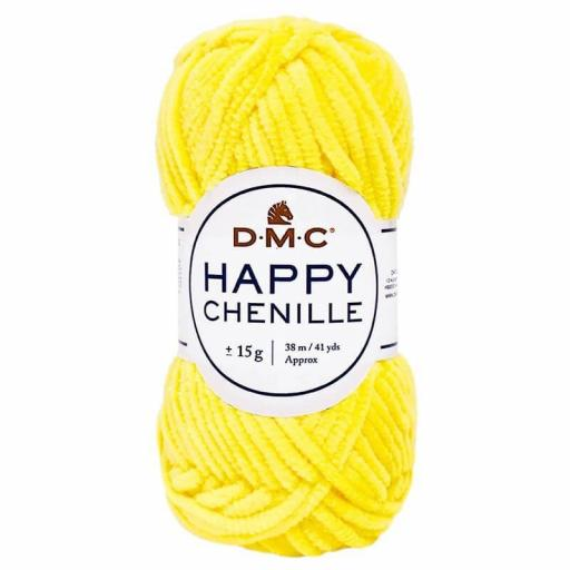 Lana DMC Happy Chenille 25 Amarillo intenso
