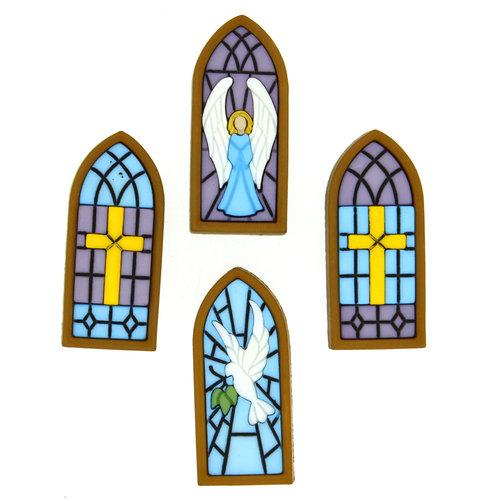 Botones Stained Glass