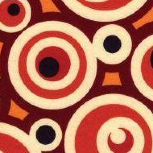 Fieltro estampado círculos