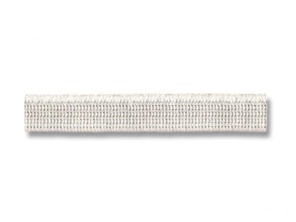 Goma plana blanca blanda 7 mm