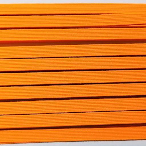 Goma plana naranja flúor 6 mm  [0]