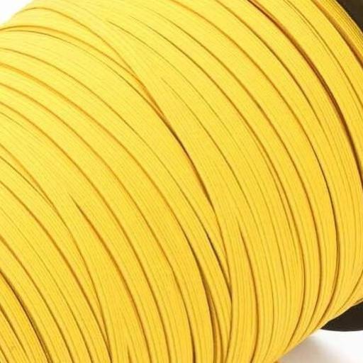 Goma plana amarillo canario 6 mm