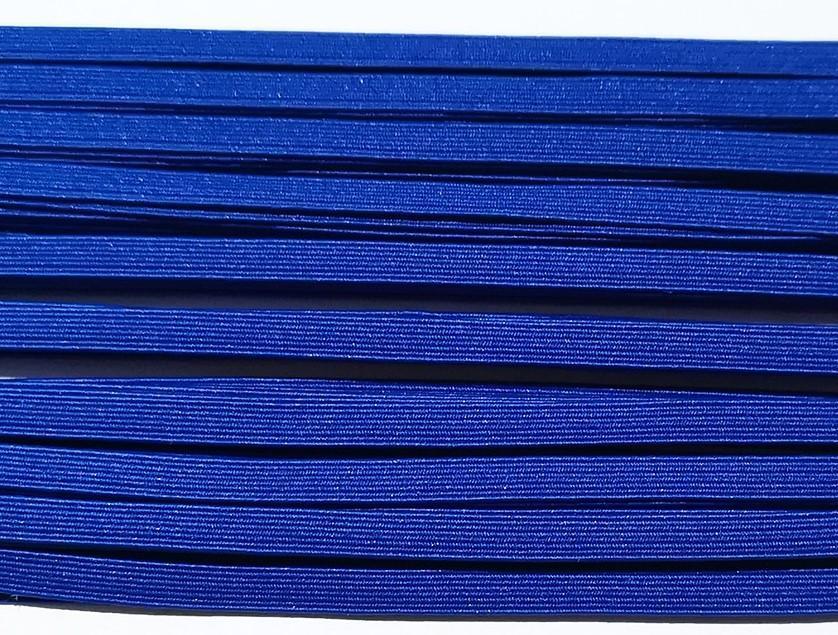 Goma plana azul lago 6 mm