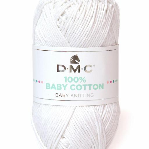 Hilo DMC 100% Baby Cotton 762 Blanco