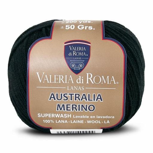 Valeria Australia Merino 999 Negro