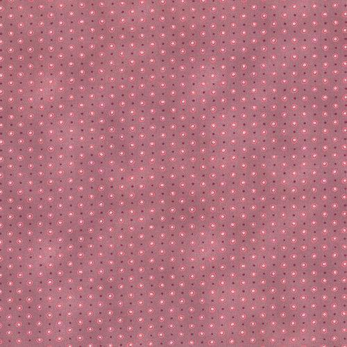Tela patchwork fondo gardenia con puntos rosas