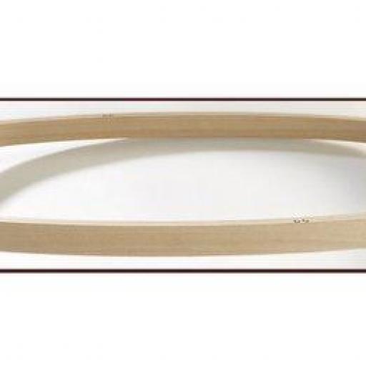 Bastidor de madera ovalado 52 x 28 cm [1]