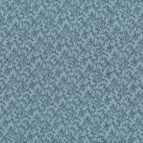 Tela patchwork fondo azul con ramas oscuras 70