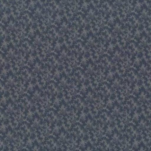 Tela patchwork fondo azul marino con ramas claras 77