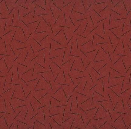 Tela patchwork granate con ramas oscuras