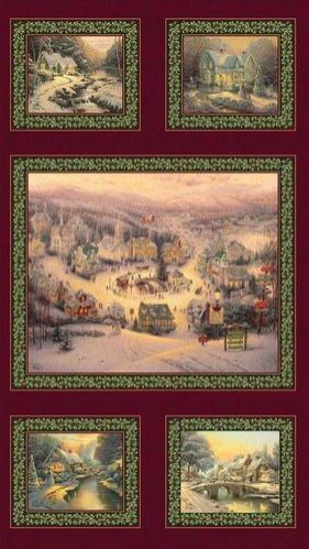 Panel patchwork Pueblo en Navidad