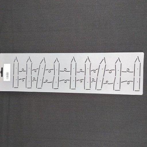 """Plantilla acolchado Picket Fence 4"""" 10 cm"""