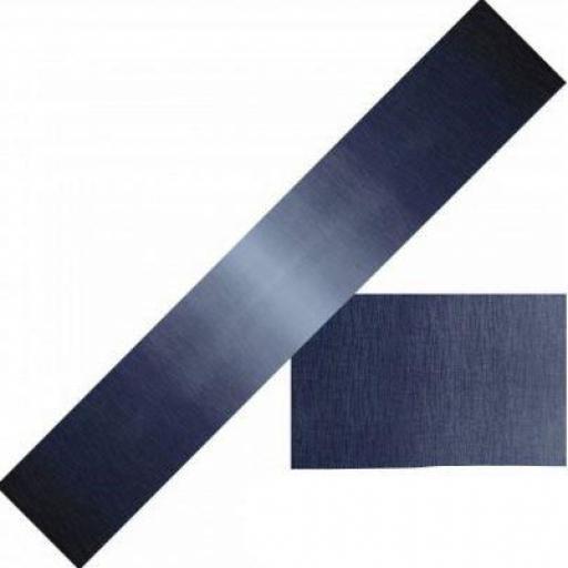 Tela patchwork con degradados en azules