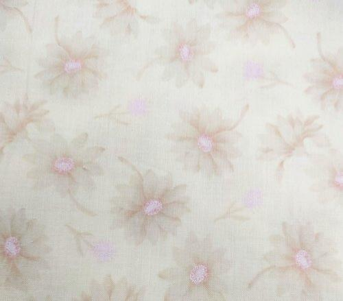 Tela patchwork japonesa beige con flores