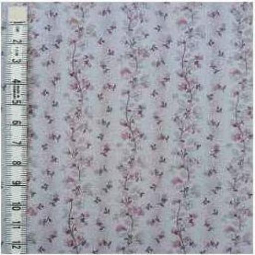 Tela patchwork fondo malva con cenefas de flores [1]