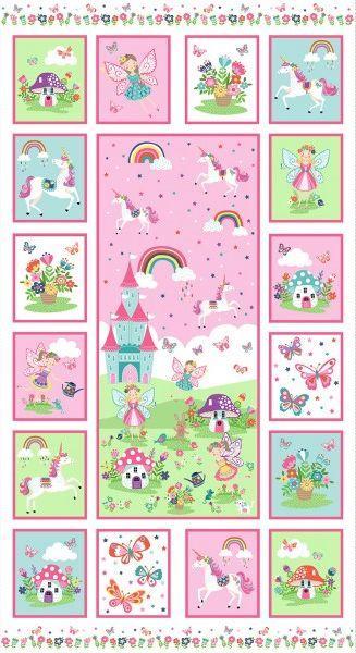 Panel con hadas y unicornios