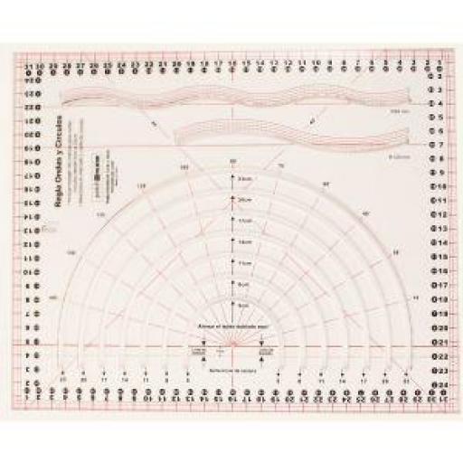 Regla de Ondas y Círculos 32x26 cm