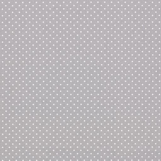 Tela gris con topos blancos