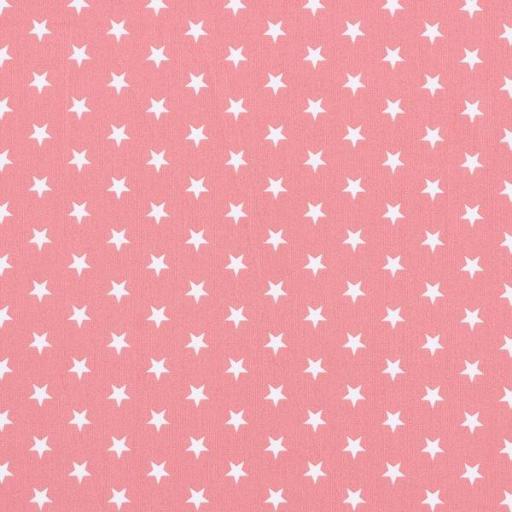 Tela algodón rosa palo con estrellas blancas [0]