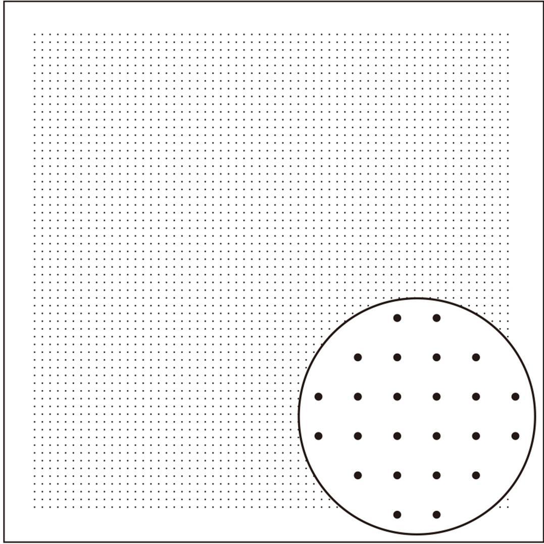 Tela patchwork impresa Sashiko blanca