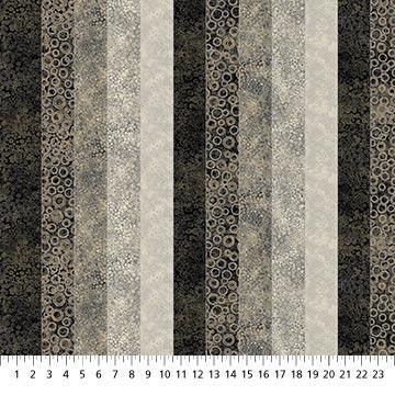 Tela patchwork de franjas grises