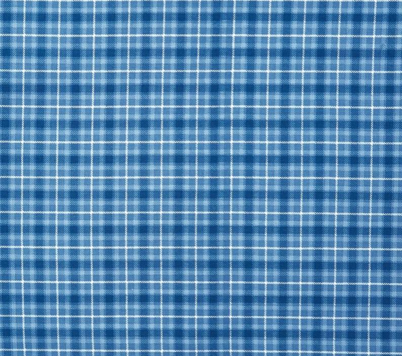 Tela patchwork azul de cuadrados country 0150
