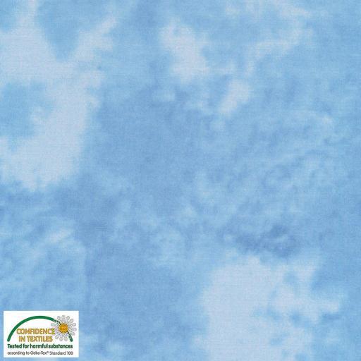 Tela patchwork marmoleada azul medio