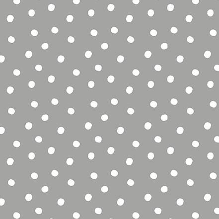 Tela patchwork gris con topitos blancos Tiny Tots