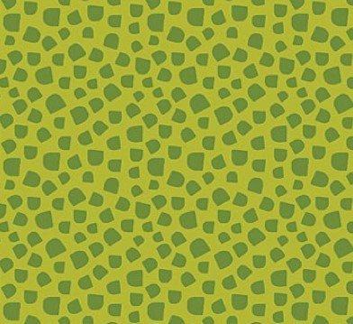 Tela patchwork fondo verde con manchitas oscuras