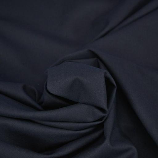 Tela algodón popelín hidrófugo y antibacteriano negro