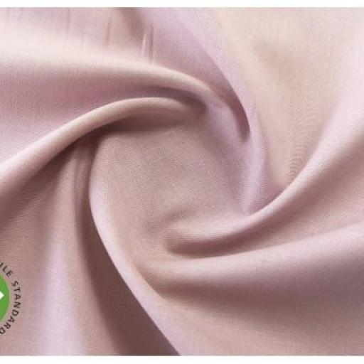 Tela algodón popelín hidrófugo y antibacteriano rosa palo