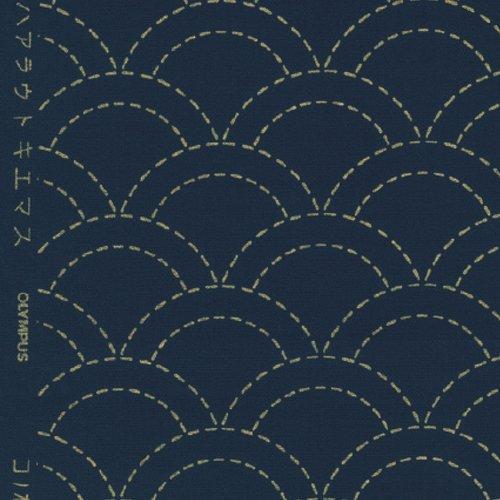 Tela azul marino con patrón impreso Sashiko