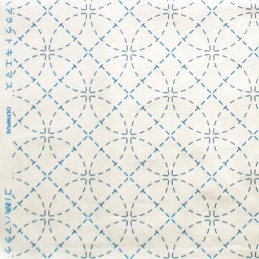 Tela blanca con patrón impreso Sashiko
