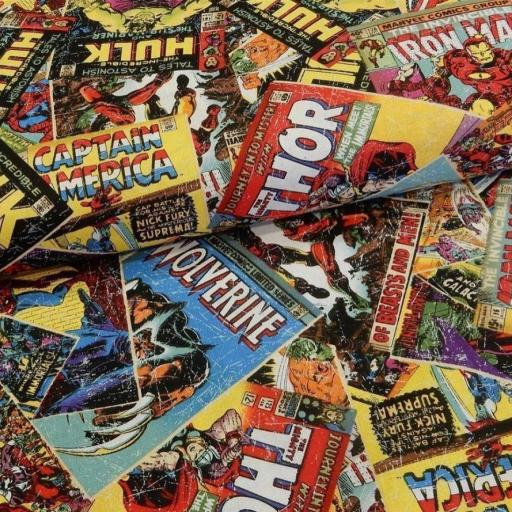 Tela patchwork Marvel Los Vengadores