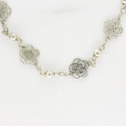 Pulsera rosas en plata [0]