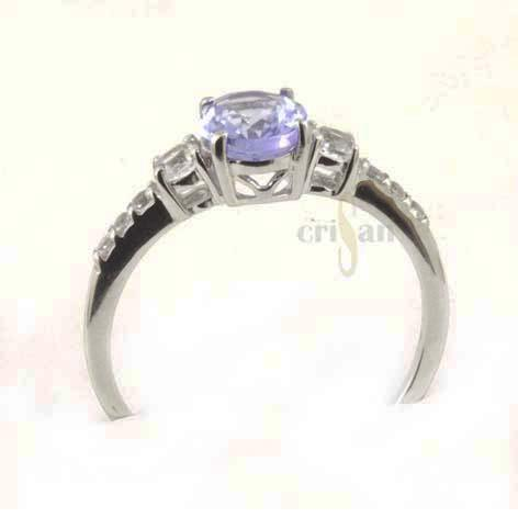 anillo tanzanita