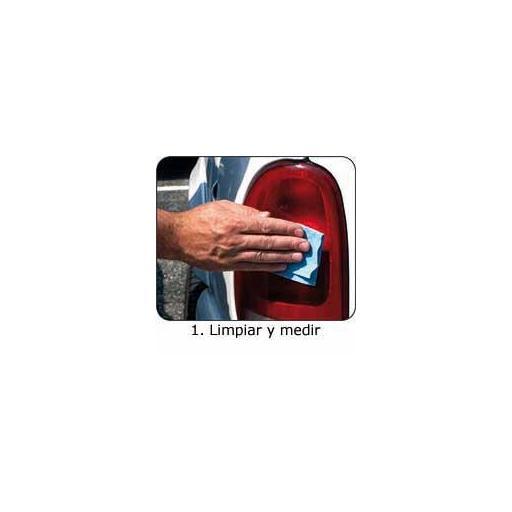 Placa Auto Adhesiva ROJA para la Reparación de Faros Traseros. [1]