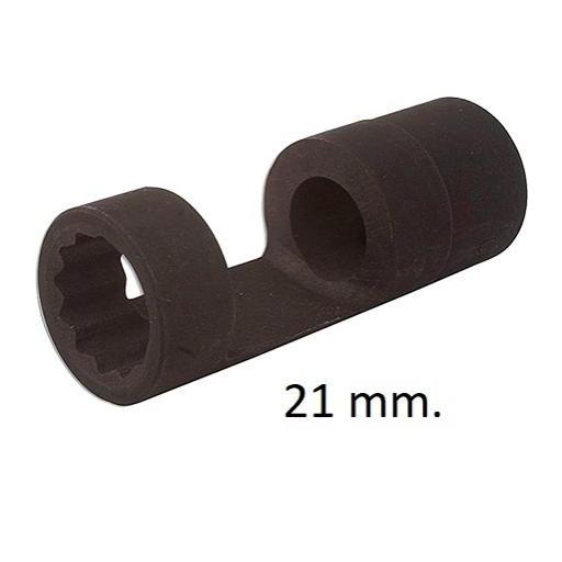 """Vaso 1/2"""" para Inyectores  con Ventana de 21, 22, 27 y 28 mm. [1]"""