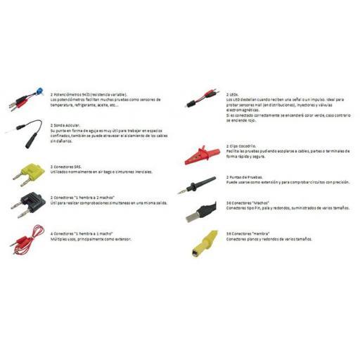 Juego de Cables y Accesorios para Comprobar Circuitos Eléctricos - 90 Piezas. [3]