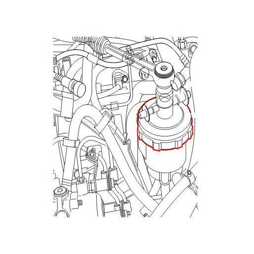 Llave para la Tapa del Filtro de Combustible PSA [1]