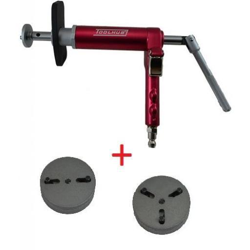 Retractor de Pistones de Frenos Neumático + Juego de 2 Adaptadores