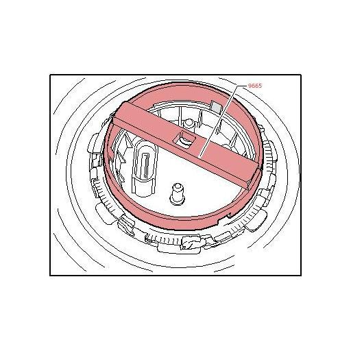 Llave para la Tapa del Aforador de Combustible  VAG / Porsche
