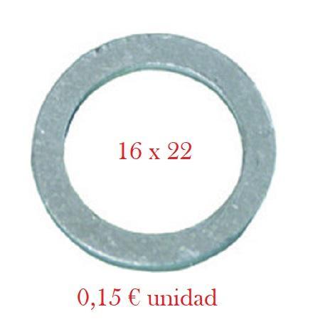 Arandela Cárter Mazda, PSA - Aluminio 16 x 22 x 1,5 mm