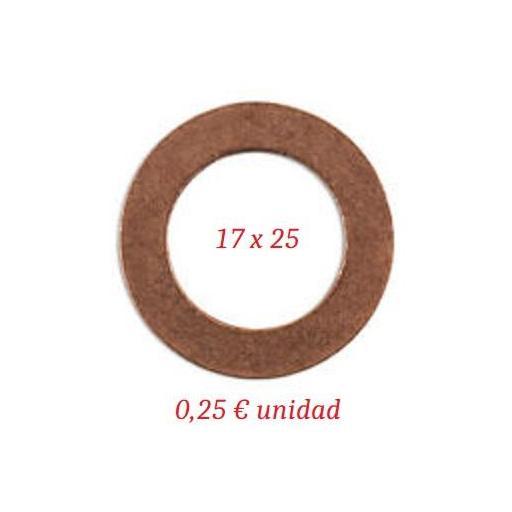 Arandela Cárter Mini - 17 x 25 x 1,5 mm